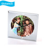 Sublimation Printing Glass Photo Frame with Clock for Wedding Give Away Gifts