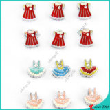 Girl Skirt Slide Charms for Leather Products Decoration (SC16040940)