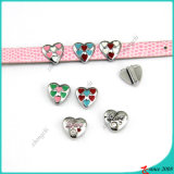 Colorful Heart Slider Charms for Girl Charms (SC16040937)