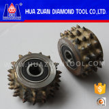 45mm Diamond Bush Hammer Tool with 45 Roller Bits