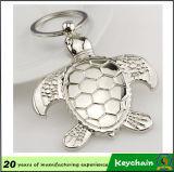 Metal 3D Tortoise Animal Shaped Keychain Factory Direct Live Animal Keyholder