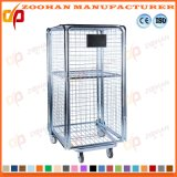 Warehouse Stackable Folding Steel Storage Cage Metal Roll Container (Zhra36)