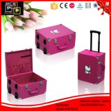 Cute Faux Leather Covered Pink Hello Kitty Suitcase