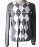 Men Knitted Fashion Pullover Sweater in 100%Cotton (KH10-485 CY-2))