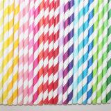 Striped Chevron DOT 100% Eco-Friendly Paper Straw