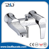 Wall Mounted Chrome Brass Bath Mixer with Brass Diverter