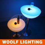 LED Glass Top Center Bar Stool Table