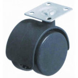 2 Inch, 50mm Caster, Tread Castor, Without Brake, Black Nylon Casters Furniture Casters, Sofa Chair Swivel Caster
