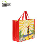 Customized Full Color Printing PP Non Woven Bag with Webbing Handle