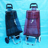Foldable Shopping Trolley with Net Mesh Fabric for Supermarket Vegetables