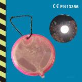 LED Flash Reflective Keychain Zipper Hanger for En13356