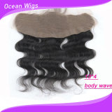 Wholesale Price Human Virgin Hair 13*4 Peruvian Virgin Hair Body Wave Silk Base Closure Lace Frontal (F-004)