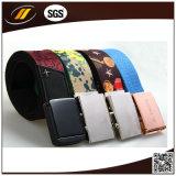 Fashion Unisex Mens Womens Cotton Canvas Fabric Metal Buckle Woven Belts (HJ15099)