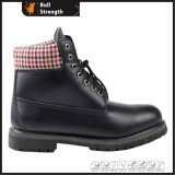 Casual Black Genuine Leather Safety Boot (SN1642)