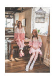 Popular Women′s Printed Cute Sleepwear with Coral Fleece