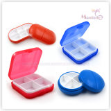 4 Grids Oval Plastic Pill Box