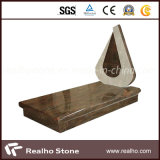 EU Style Top Polished Granite Tombstone for Slae