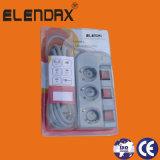 European Style 3 Way Individual Switch Power Cord (E6003EIS)