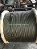 8*19s+FC Elevator Wiire Rope, Black Wire Rope, Ungalvanized Steel Wire Rope