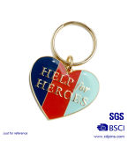 Factory Price Metal Heart Shaped Key Tags for Wedding Gift (KC-030)