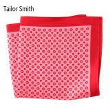 Luxury Silk Polyester Dots Plaid Flower Printed Pocket Square Hanky Handkerchief (SH-099)