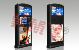 Two Face LCD Display Information Checking Kiosk with Card Reader