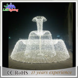 Outdoor Christmas Holiday White Christmas LED 3D Fountain Motif Lights