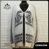 Women Custom White Cardigan Sweater