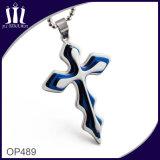 Op489 Cross Together Dark Blue Pendant