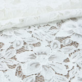 Knitted Flower Cotton Nylon Cord Lace Fabric for Garmen Wholesale