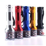 Five Colors Flash Light Shape Electric Metal Herb Smoking Tobacco Grinder Crusher My335
