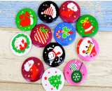 Cute Customized Logo Printing Christmas Badge Tinplate Button Badge / Pins for Sales (YB-BT-04)
