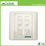 86 Type Four Port RJ45 Network Face Plate with Shutter
