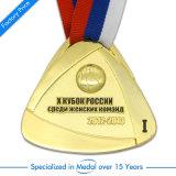 Factory Price Free Design Custom Wholesale Zinc Alloy Round Soft Enamel 3D Gold Boxing Race Running Marathon Sports Award Souvenir Metal Medal with Neck Ribbon