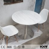 Customized Pure White Round Solid Surface Dining Table and Chairs