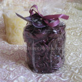 Purple Pillar Candle for Flower Carving