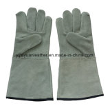 Cow Split Leather Safety Welding Work Gloves