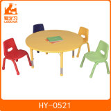 Height Adjustable Kids Round Table with 4 Chairs