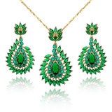 Green Diopside 18K Gold Party Jewelry Set Wholesale Jewelry