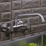 SUS304 Top Fashion Double Lever Water Tap
