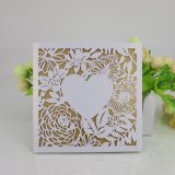High Quality Pearl Paper Laser Style Wedding Invitation Card