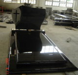 China Natural Hebei Black Granite Tombstone for Memorial