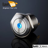 16mm New Type Short Body Waterproof Flat Stainless Steel DOT Momentary Pushbutton Switch (Ls16-F-M1-S-D-B)