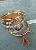 Multi Rows of Bangle with Seedbead &Tassel