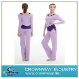 Cotton/Spandex Fitness Purple Yoga Clothes