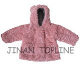 Winter-Protection Faux Fur Fake Fur Warm Thick Jacket for Baby