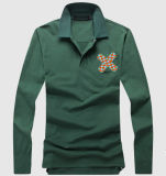 Long Sleeve Embroidery Pima Cotton Polo Shirt Supplier