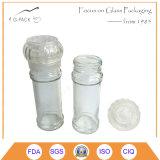 Vintage Glass Pepper Mill, Glass Spice Jar with Grinder