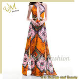 Summer Style Rayon Print Sexy Ladies Dresses for Party
