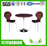 Flyfashion Antique Wood Coffee Table and Chair for Sale (DT-15)